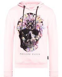 Philipp Plein Embellished Hoodie - Roze