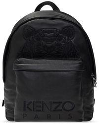 KENZO Backpack With Logo - Zwart