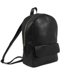 Still Nordic Frill Flap Pocket Backpack Negro
