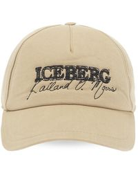 Iceberg Baseball Cap With Logo - Naturel