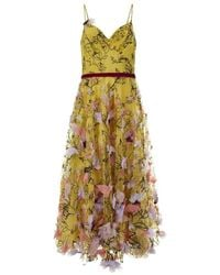 Marchesa Notte dress - Amarillo