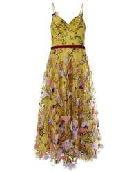 Marchesa Notte Dress - Geel