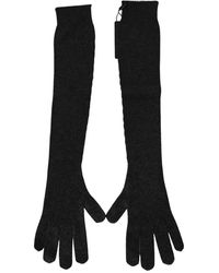 Dolce & Gabbana Cashmere Gloves - Grijs