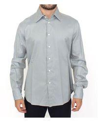 Ermanno Scervino Cotton Long Sleeve Casual Shirt Top - Grijs