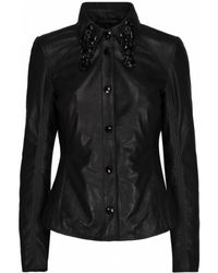 Onstage Beautiful Lambskin Shirt Jacket - Zwart