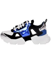 Les Hommes Sneakers Bassa - Bleu