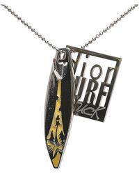 Dior Surf Chick Pendant Necklace - Gris