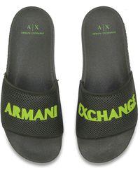 Armani Exchange Sliders - Grijs