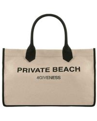 4giveness Borsa Private Beach Bag Fgaw0917-015 - Naturel