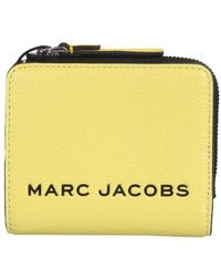 Marc Jacobs Mini The Colorblock Compact Wallet - Geel