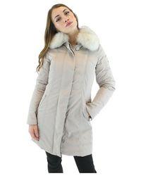Peuterey Slim Fit Jacket With Fur - Grijs