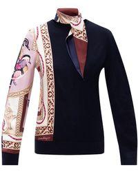 Ferragamo Top With Silk Detail - Zwart