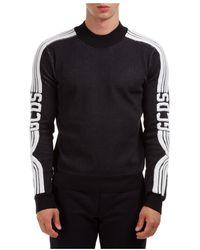 Gcds Crew neck neckline jumper sweater pullover - Noir