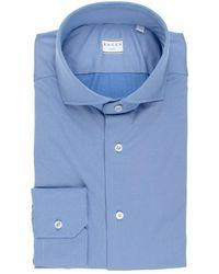 Xacus Square Jersey Tailor Shirt - Bleu