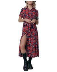 Colourful Rebel Dalia roses maxi dress - Rojo