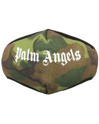 Palm Angels Logo Facemask - Vert