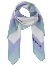 Emporio Armani Silk foulard scarf - Weiß
