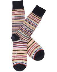 Paul Smith Gestreifte Socken - Lila