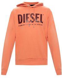 DIESEL Sweatshirt Met Logo - Oranje