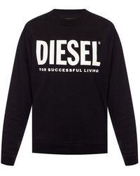 DIESEL Logo Gedrukt Sweatshirt - Zwart