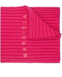 MM6 by Maison Martin Margiela Scarf With Logo - Roze