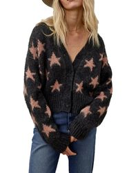 Roy Rogers Cardigan Con Stelle - Gris