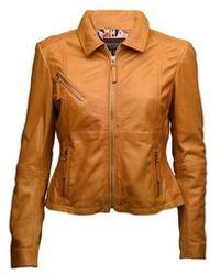 Onstage Leather Jacket - Geel