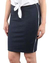 Tommy Hilfiger Piping Bodycon Skirt - Blauw