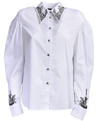 John Richmond Long Sleeve Shirt - Weiß