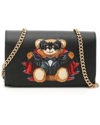Moschino Bat Teddy Bear Mini Bag - Zwart