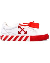 Off-White c/o Virgil Abloh Low Vulcanized Sneakers - Wit