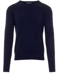 J.Lindeberg Sweater C-neck Light Cashmere - Blauw