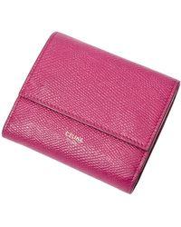 Céline Vintage Compact Wallet - Roze