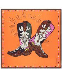 POM Amsterdam Sjaal Dancing Boots - Oranje