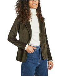 Majestic Filatures Jacket 1 button 2 pockets - Vert