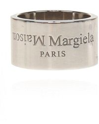 Maison Margiela Silver Logo Ring - Grijs
