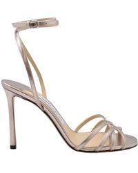 Jimmy Choo Mimi 100 Sandals - Naturel