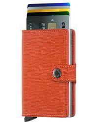 Secrid Miniwallet Crisple - Oranje