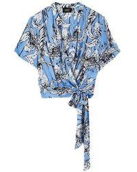 Liu Jo Top con cintura in tessuto - Bleu