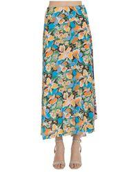 M Missoni Long Flower Skirt - Blauw