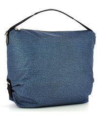 Borbonese Shoulder Hobo Bag Large Azul