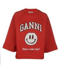 Ganni T-shirt - Rood