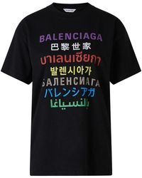 Balenciaga Xl Talen T-shirt - Zwart