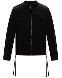 Undercover Jacket With Drawstrings - Zwart