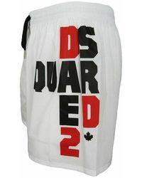 DSquared² Costume da bagno boxer con logo laterale Blanco