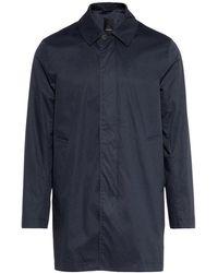J.Lindeberg Coat Carter Fine Twill Car - Blu