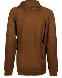 KENZO TC Seasonal Buttoned Sweater Marrón