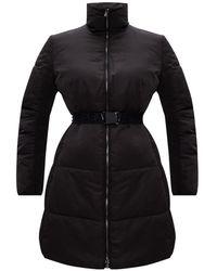 Emporio Armani Quilted Coat - Zwart