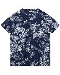 Etro Floral Print T-shirt - Blauw
