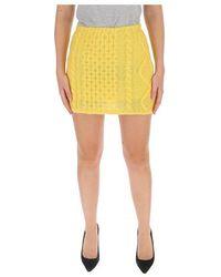 Laneus Cable-knit Mini Skirt - Geel